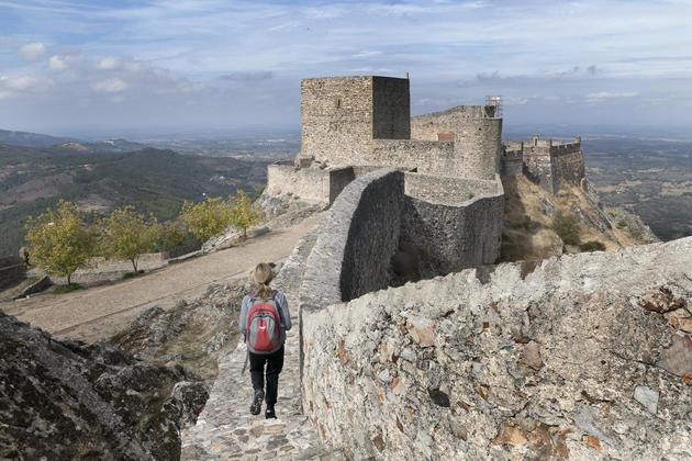 Portugal alentejo marvao castle hiker