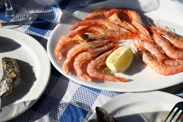 Spain andalucia cadiz prawns sardines