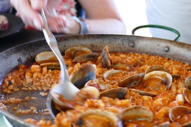 Spain andalucia paella serving
