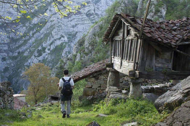 Spain asturias picos beyos abandoned village