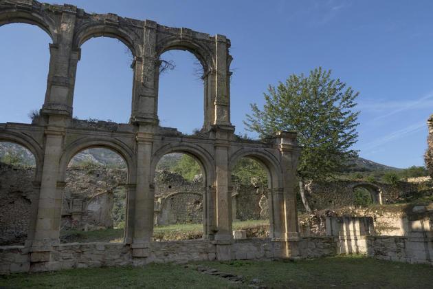 Spain castile burgos ebro rioseco monastery ruins