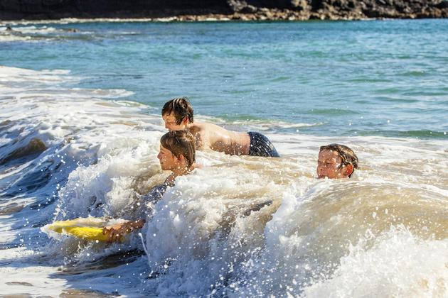 Spain picos de europa children surfing