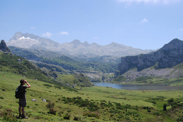 Spain picos de europa lakes of covadonga