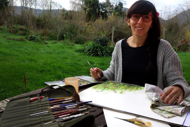 Spain picos de europa maria painting 13
