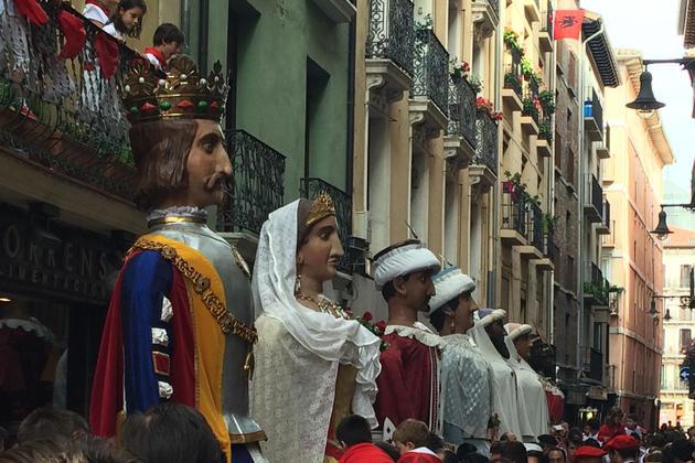 Spain pamplona giants san fermin xabier etxarri