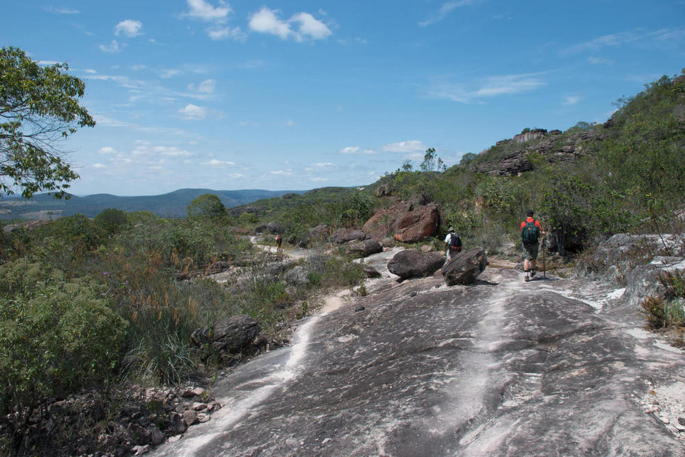 Brazil bahia chapada diamantina walking over well trodden rocks20180829 76980 1x9xy30