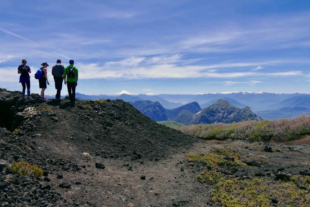 Chile lake district small group hiking beautiful view on background220180829 76980 1b6otnk