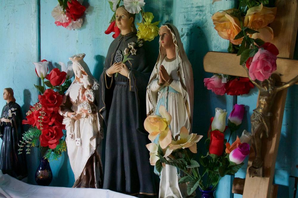 Chile patagonia carretera austral colourful altar near villa santa lucia abandoned church c pura aventura thomas power