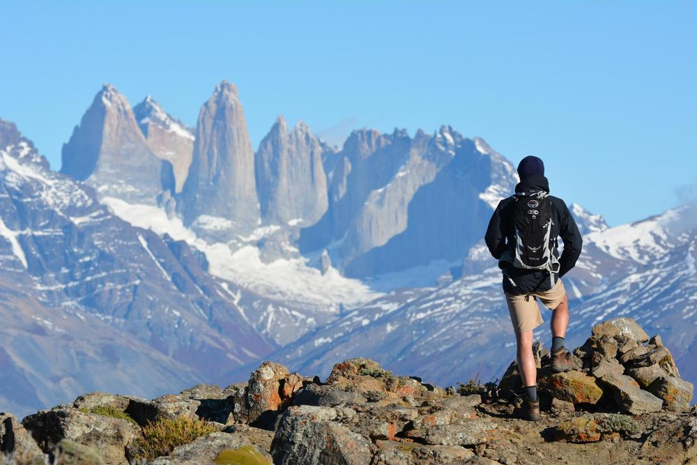 Chile patagonia torres del paine looking out from las cornisas