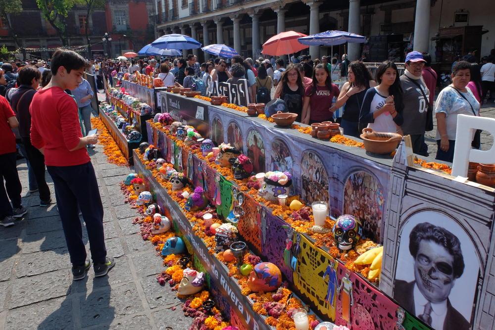 Mexico zocalo dia de muertos celebration 1