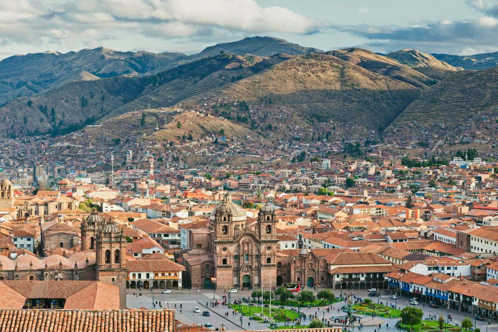 Peru cusco city of cuzco in peru south america