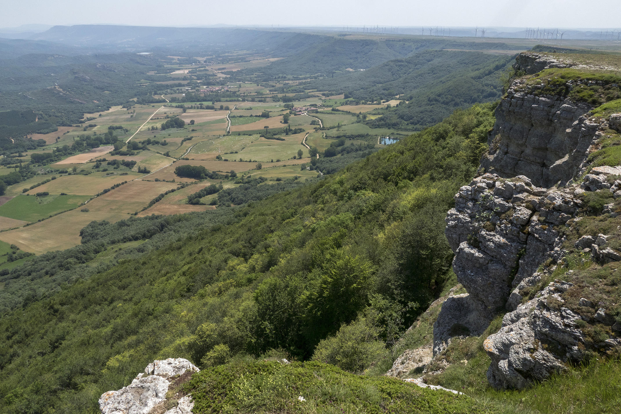 view over the plains of castile