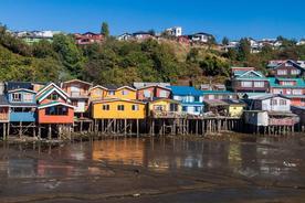Chile chiloe palafitos stilt houses in castro chiloe island chile
