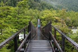 Chile patagonia carretera austral queulat bridge