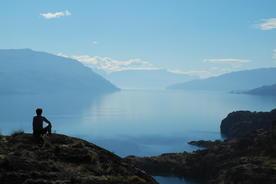 Chile carretera view over lake cochrane copyright john main pura traveller