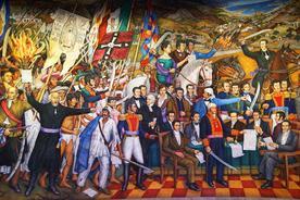 Mexico chapultepec castle ogorman mural retablo de la independencia