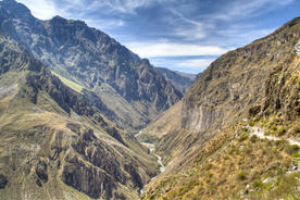 Peru colca canyon view over the colca canyon near arequipa peru