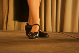 Spain andalucia seville flamenco dancer feet detail