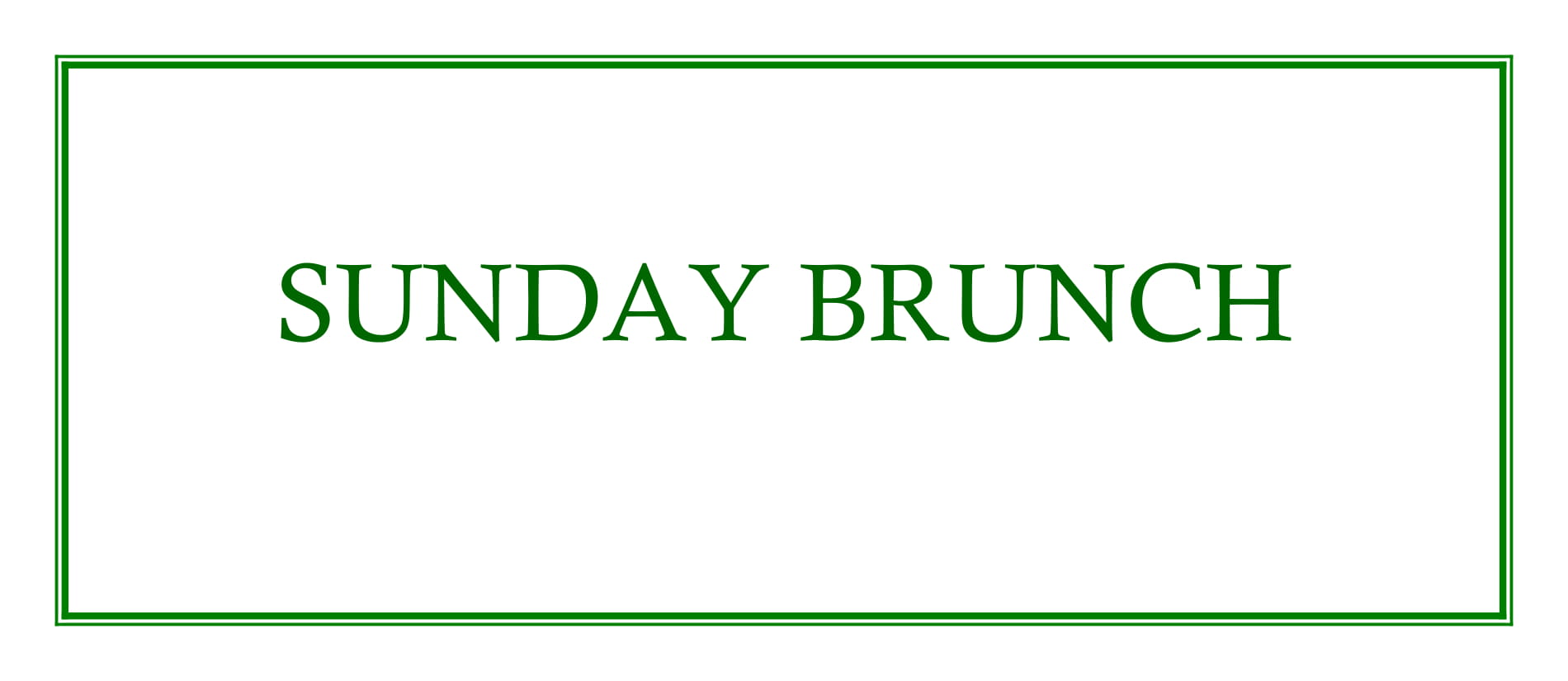 GVL Sunday Brunch Menu