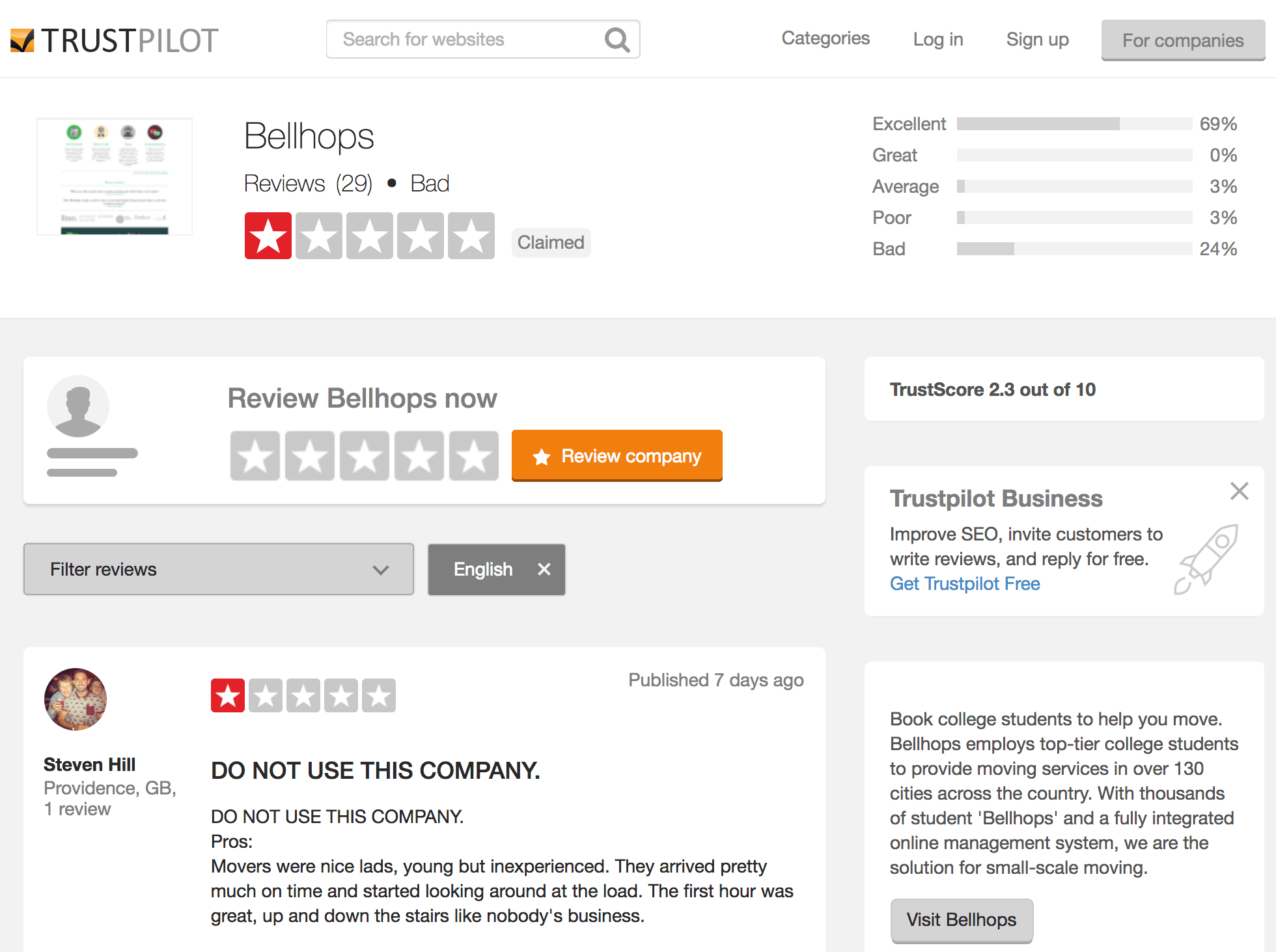 How to deal with low reviews on Trustpilot