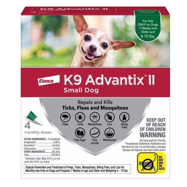 K9 Advantix II 4-10 lbs, 4pk