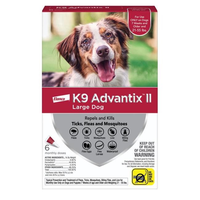 K9 Advantix II 21-55 lbs, 6pk