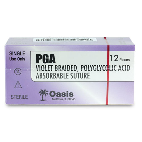 PGA Violet Braided Polyglycolic Absorbable Suture