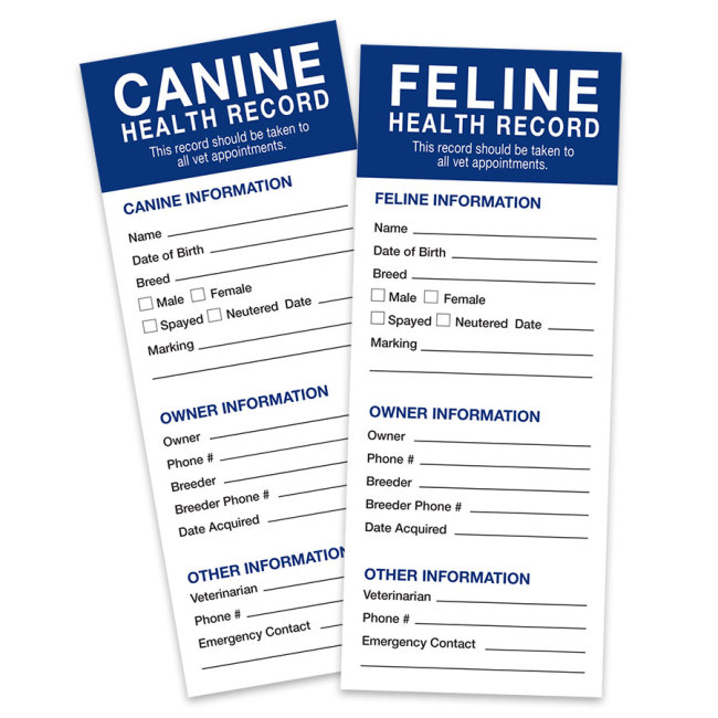 Revival animal health health records revival animal health for Pet health record template