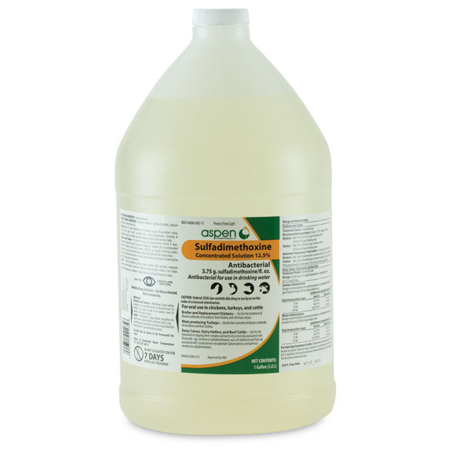 Sulfadimethoxine 12.5% Concentrated Solution