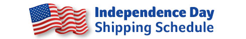 Independence Day Shipping Schedule