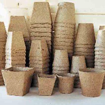 3 Inch Square Peat Pots