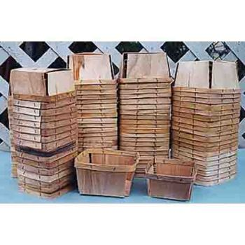 Quart Wooden Berry Boxes