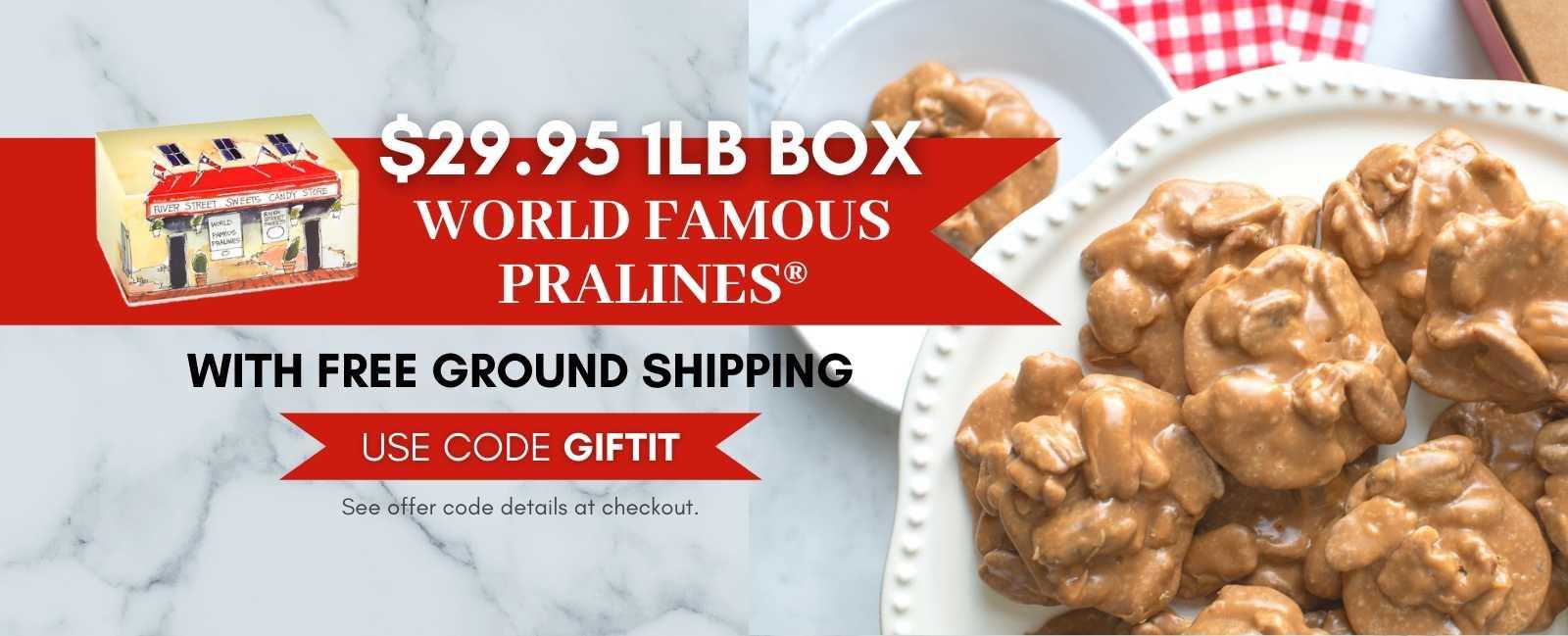 Shop $29.95 1lb Praline Box