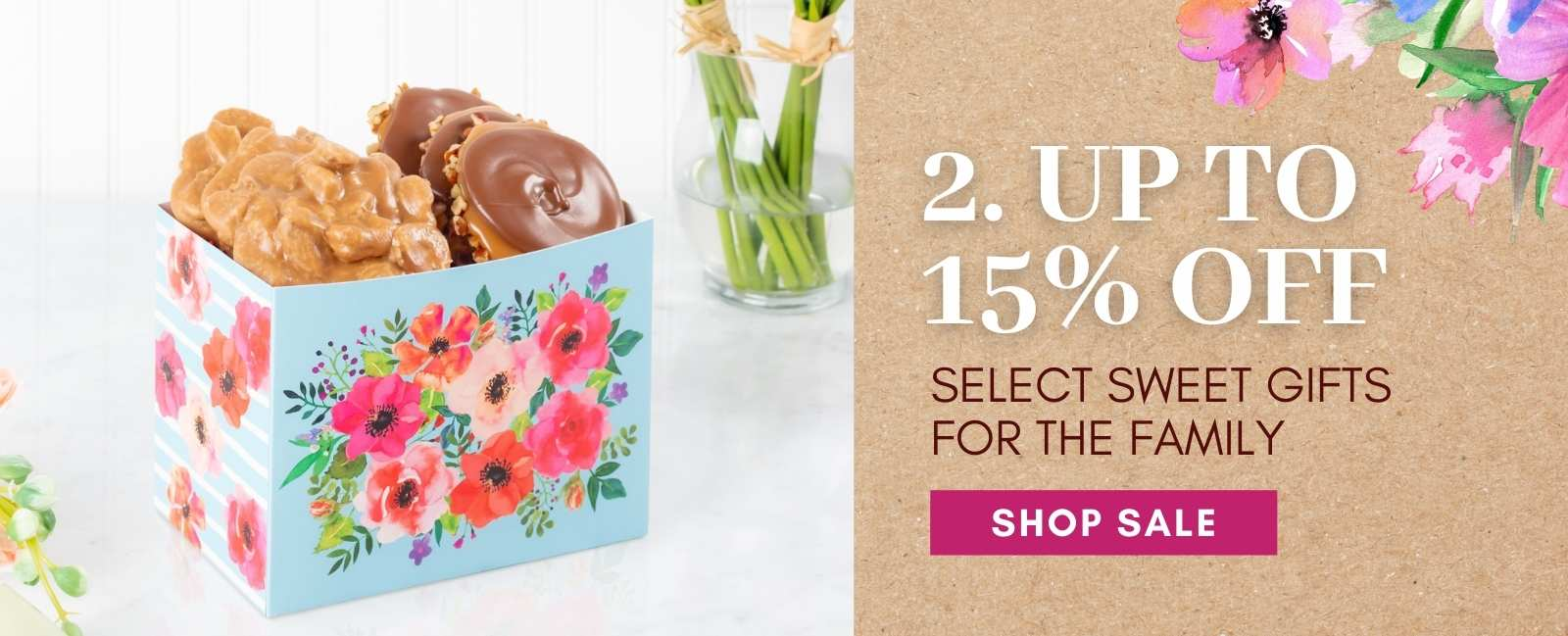 Up to 15% off select sweets