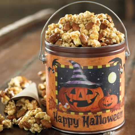 Nutty Caramel Popcorn Halloween Pail