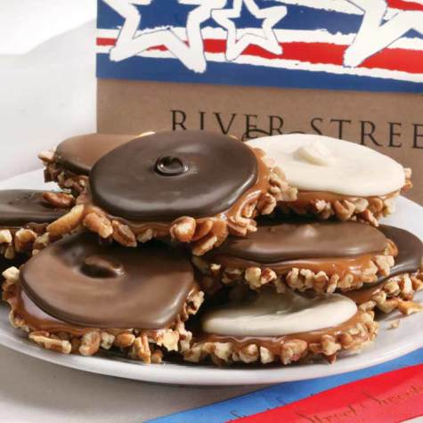 Stars & Stripes Box of Assorted Bear Claws