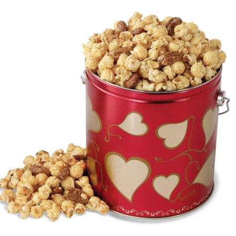 Nutty Caramel Popcorn Valentine's Day Pail