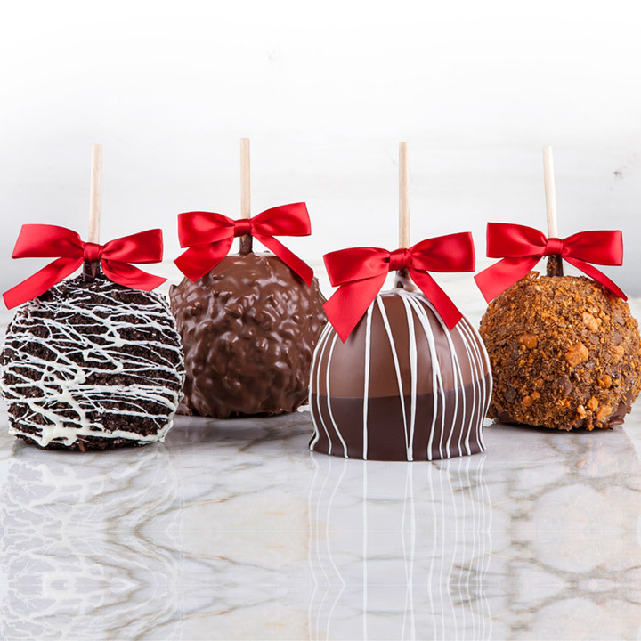 assorted chocolate apples 4 pack - Christmas Candy Apples