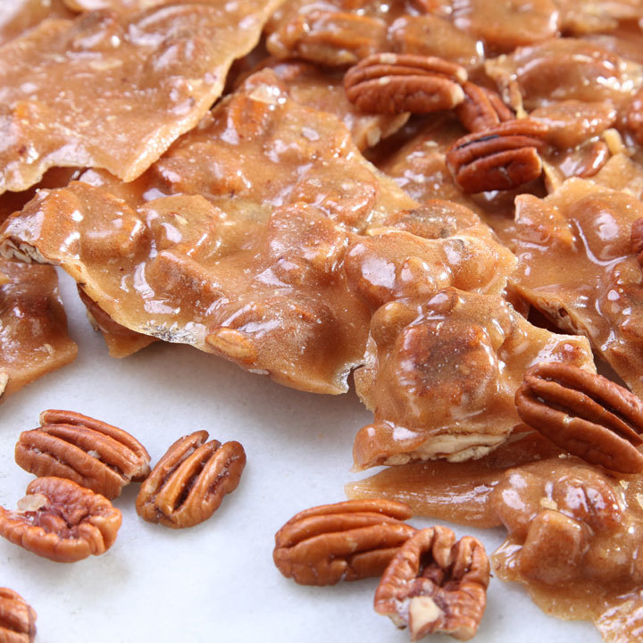 pecan brittle 1lb bag brittle toffee candies river street sweets