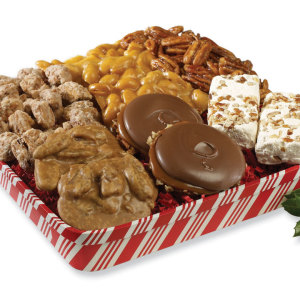 Candy Striped Christmas Tray