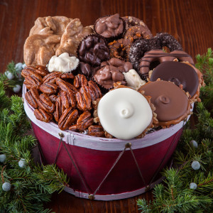 Christmas Drum of Sweets Basket