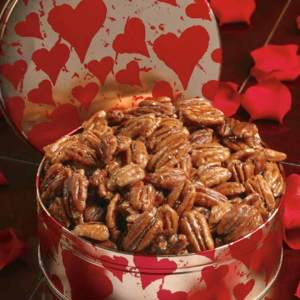 Valentine Tin of Glazed Pecans