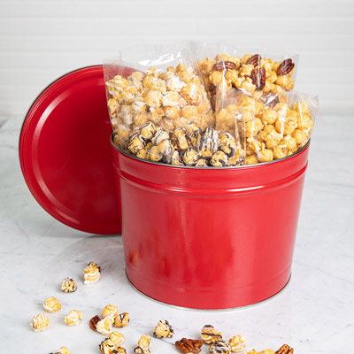 Candied Popcorn Gift Tin