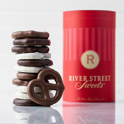 Assorted Chocolate Pretzel Canister