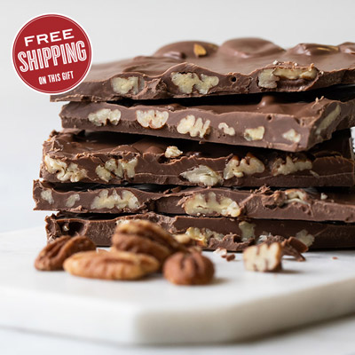 Milk Chocolate Pecan Bark