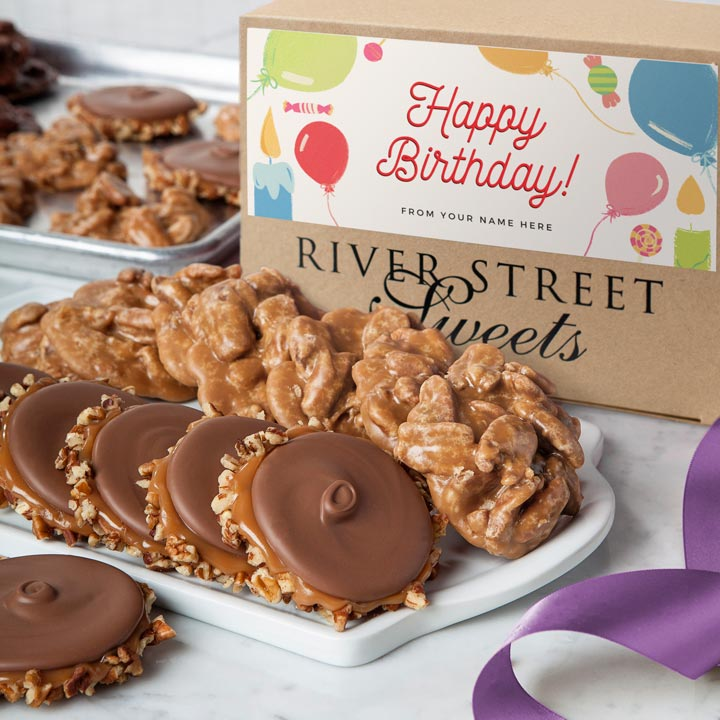 Custom Birthday 10pc Praline & Bear Claw Box