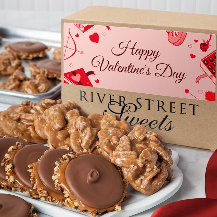 Valentine Box of Pralines & Bear Claws
