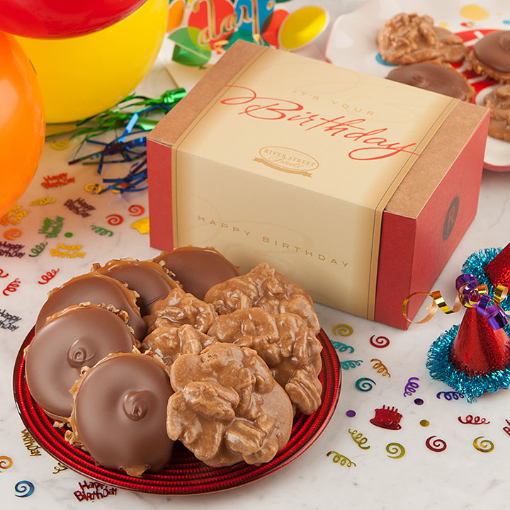 Birthday Box of Pralines & Bear Claws  - 10 piece