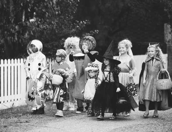 Halloween through the ages.  A sweet history, indeed!
