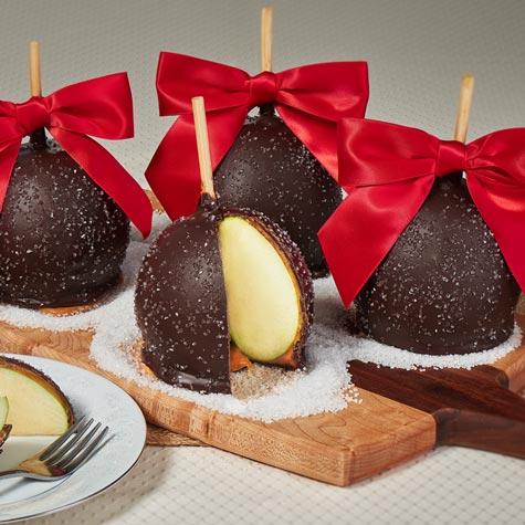 sea salt caramel apples - Christmas Candy Apples